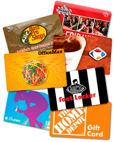 Gift cards at Tenuta's Food Lane
